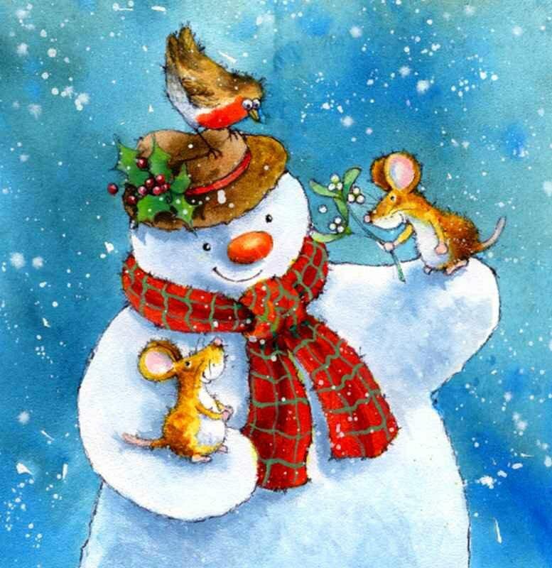 Картинки снеговика на открытки