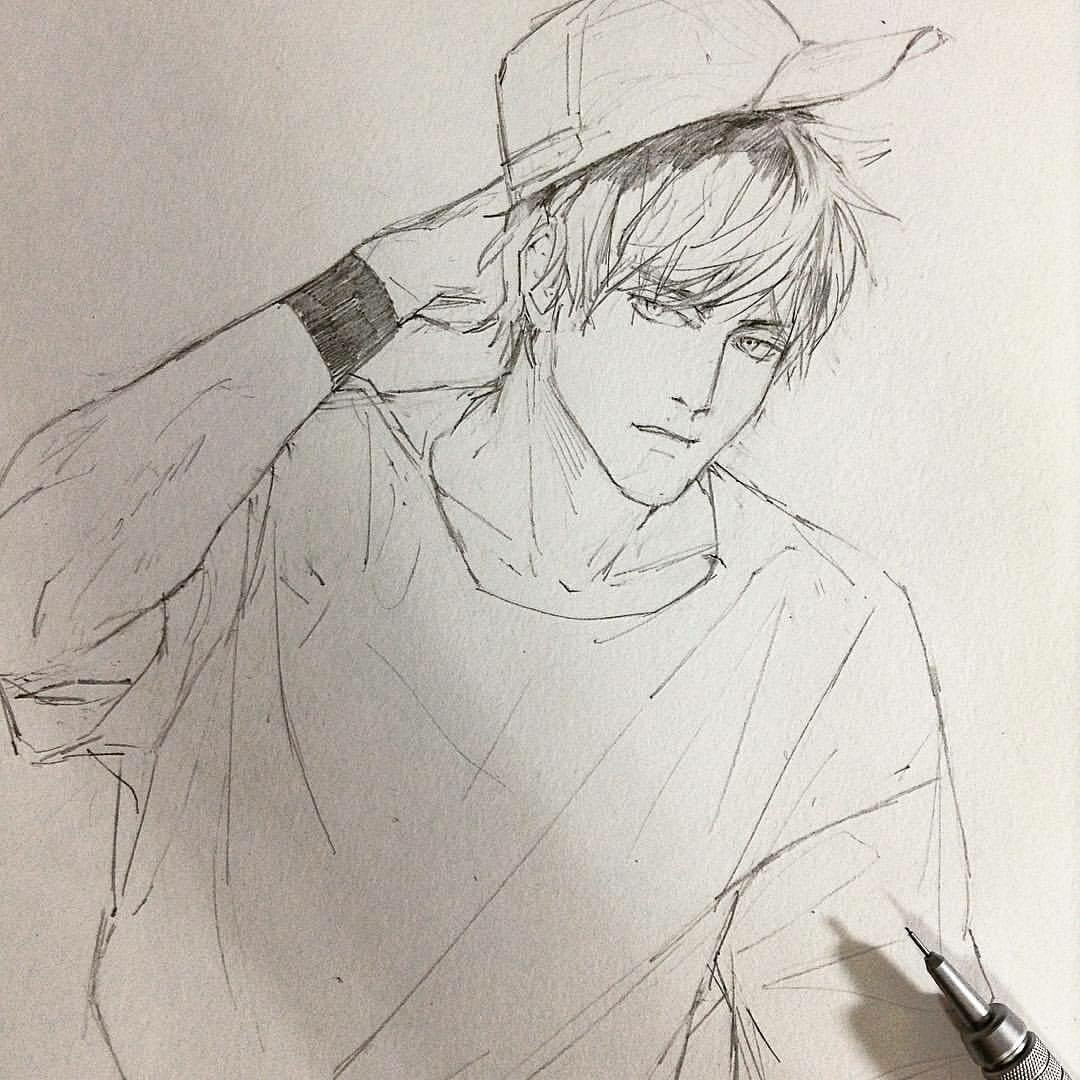 Рисованные картинки карандашом парней