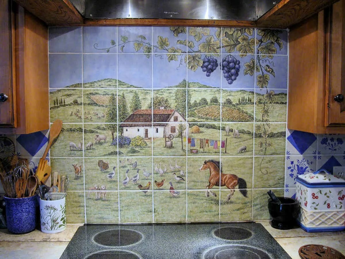 хочу плитка панно для кухни картинки психологи