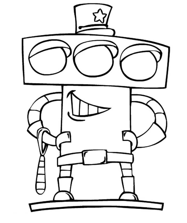«Раскраска Робот-светофор Раскраски роботы для детей ...