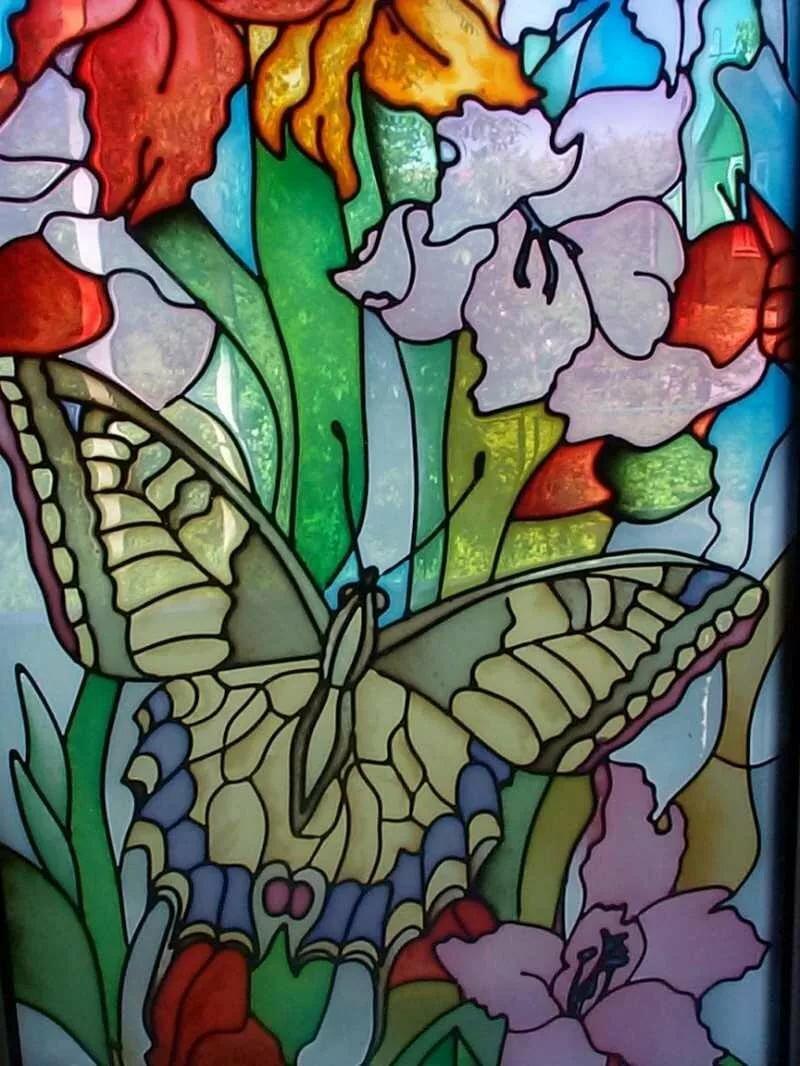 Картинки для рисование по стеклу