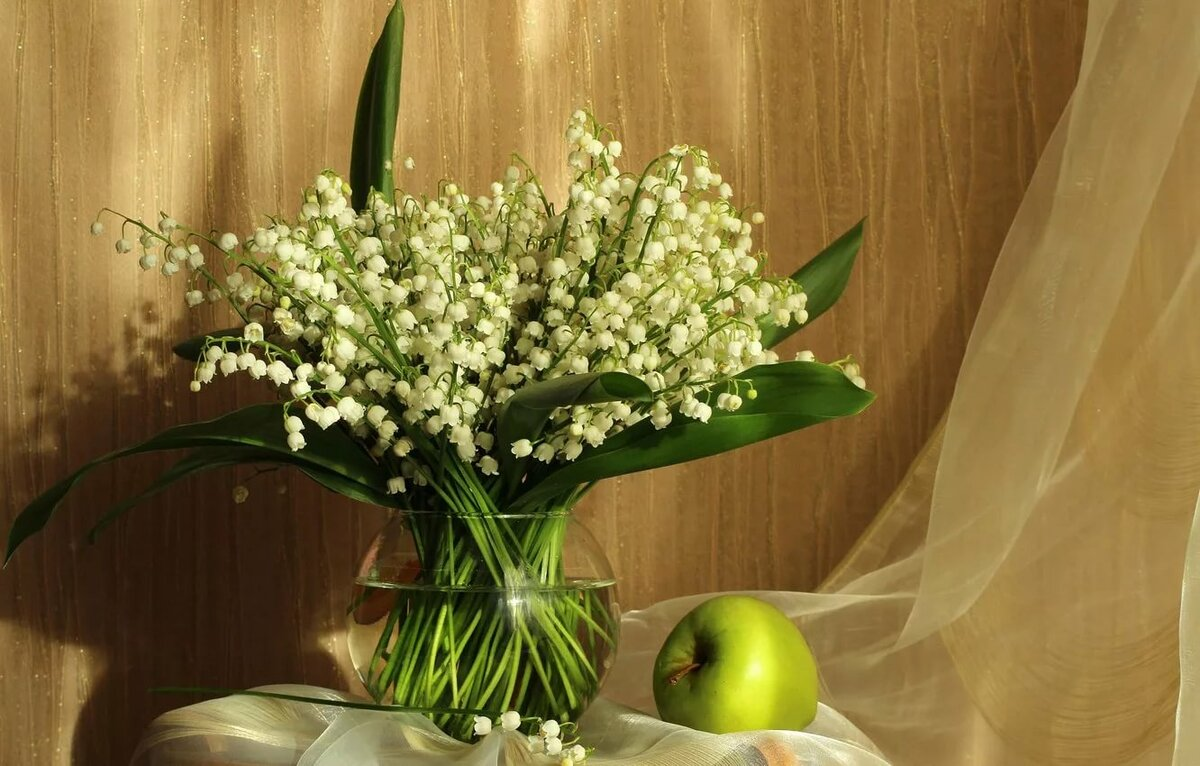 картинка цветы ландыши нарциссы лилии заменен
