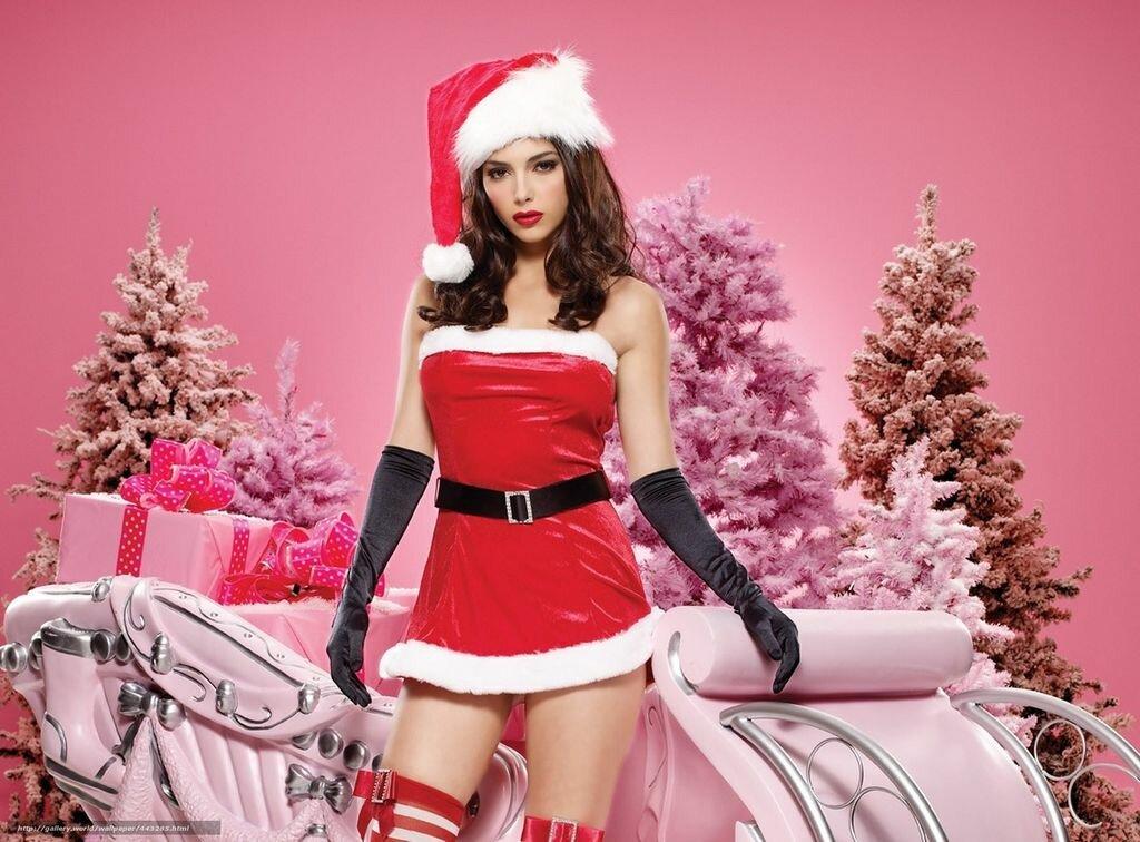 фото красивых девушек в костюме снегурочки сексуальные ножки