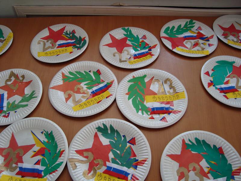 Открытки с 23 февраля в детский сад