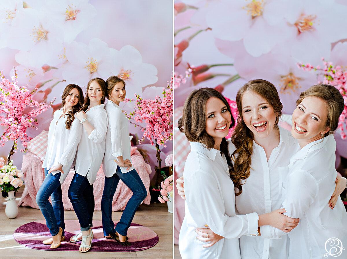 фотосессия для подруг в студии москва свадьбу
