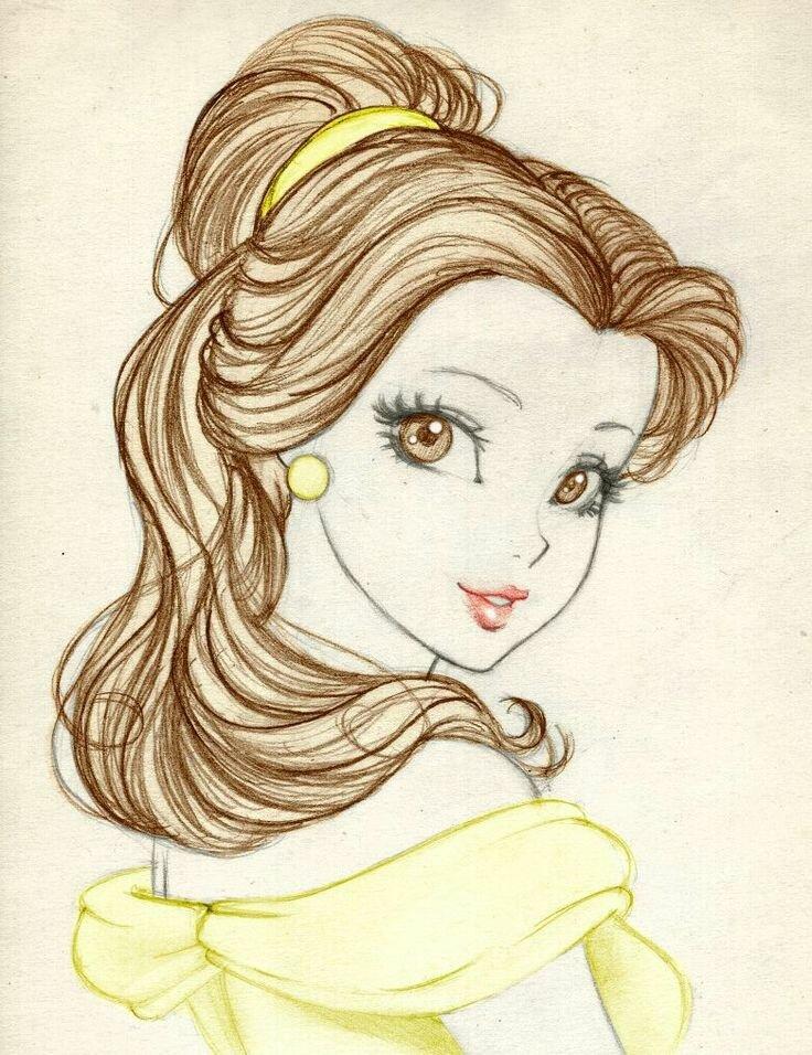 Картинки принцесс рисовать карандашом