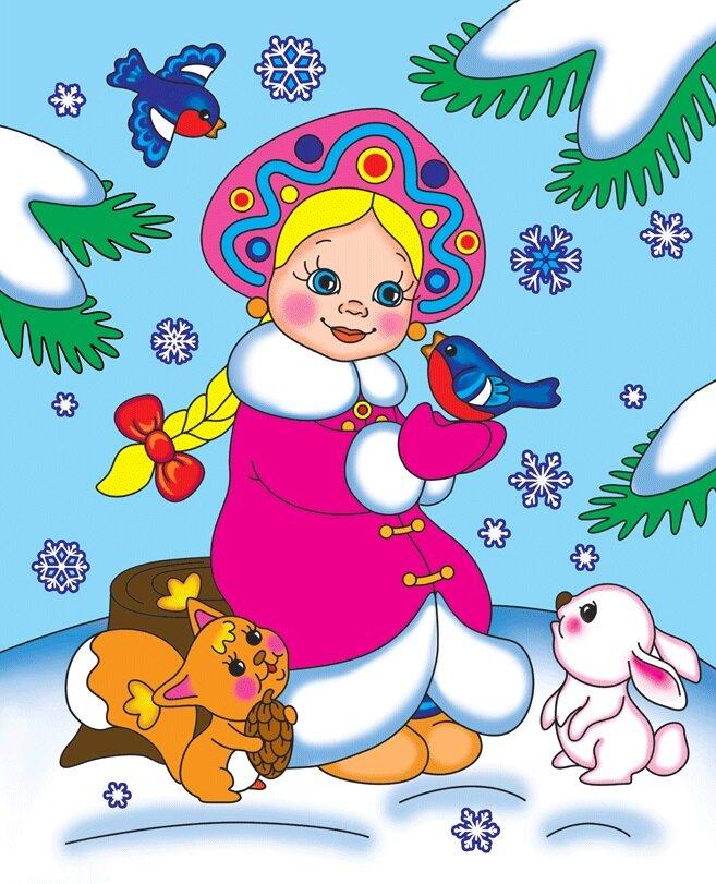 Новогодние картинки снегурочка для детей