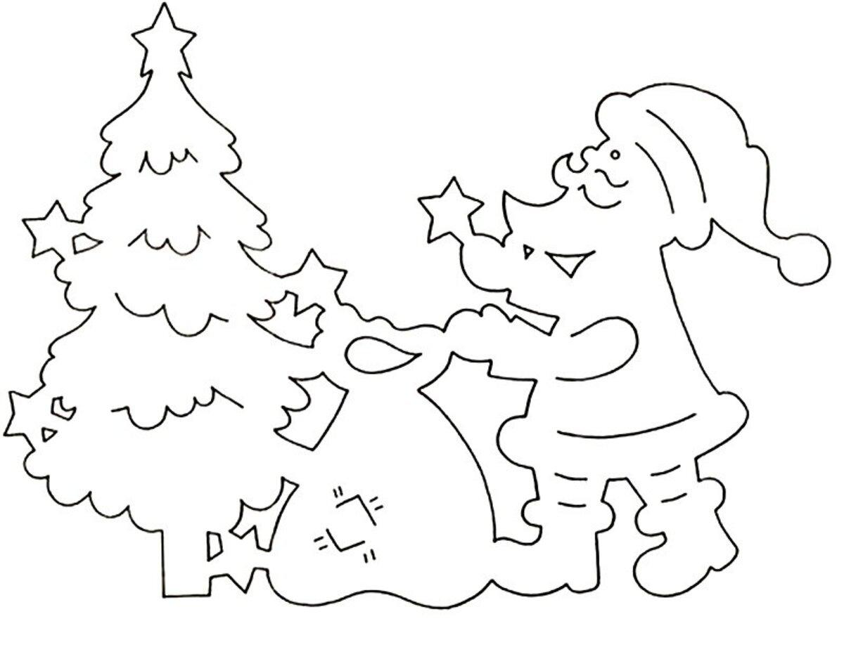 Картинки на новый год для распечатки и вырезания