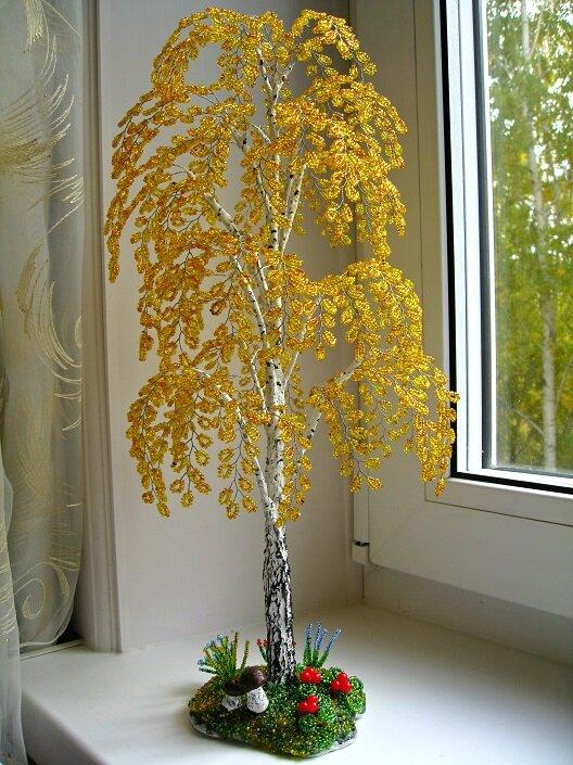 Поделки из бисера и проволоки деревья и цветы, название