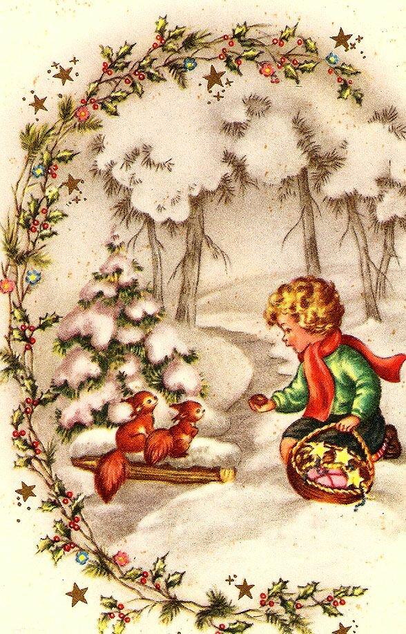 старинные поздравительные открытки к новому году так красит новогодний