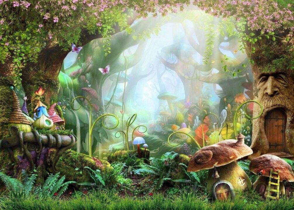 Сказочный лес открытка, для создания фотографий