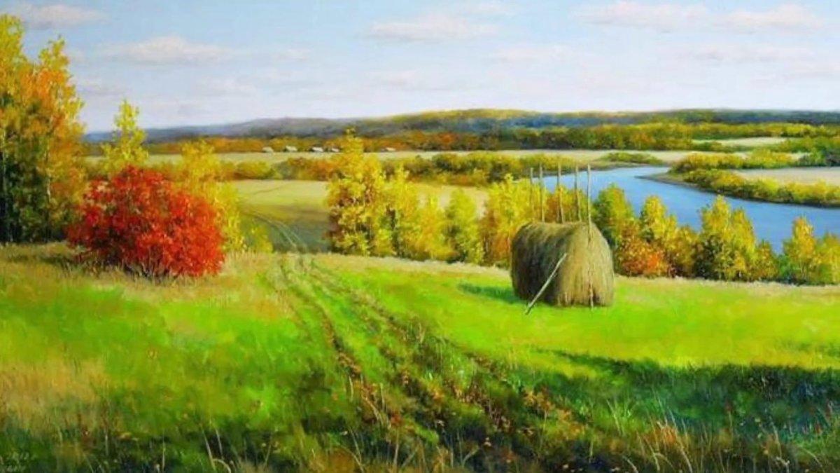 пейзажи средней полосы россии рисунки историй писано подвигах