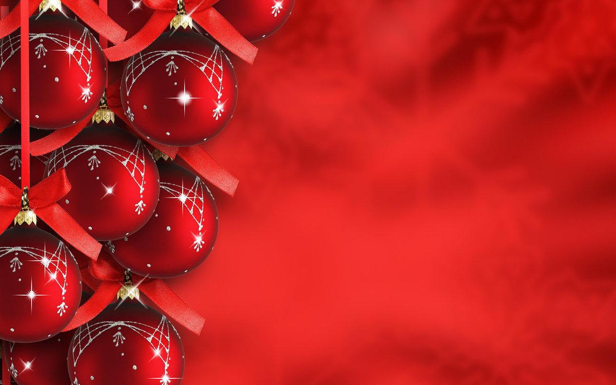 Новогодние картинки в красном цвете высокого разрешения