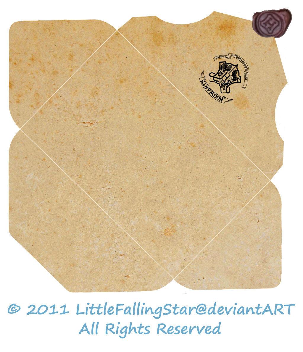 Открытки, открытка в виде письма из хогвартса