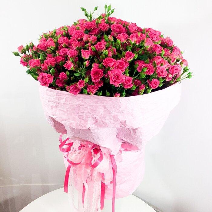 Доставка цветов 57 роз