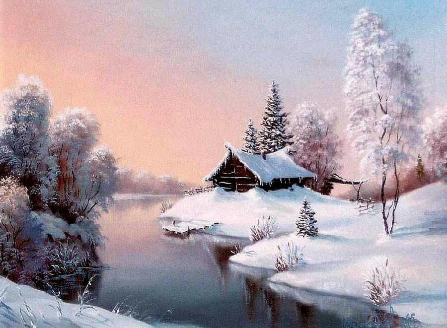 Открытки доброе утро зимний пейзаж, делать открытку день
