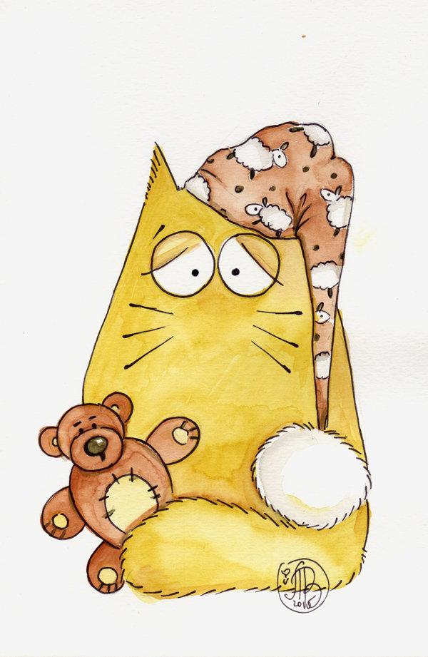 Днем, картинки котики смешные мультяшные