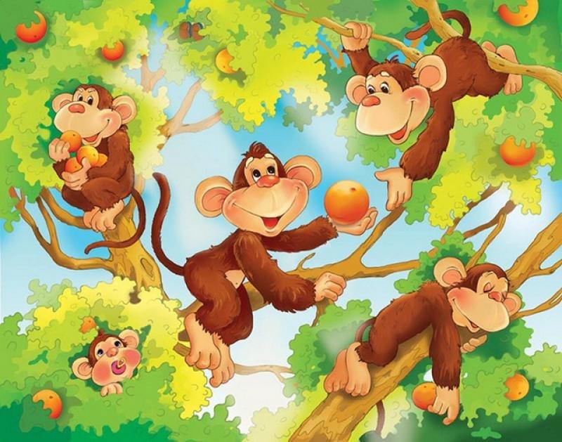 Картинка обезьянки на дереве