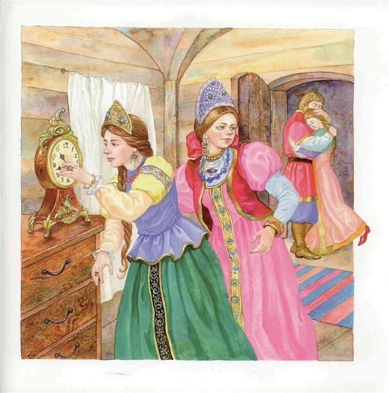 собраны сюжетные картинки к сказке аленький цветочек название