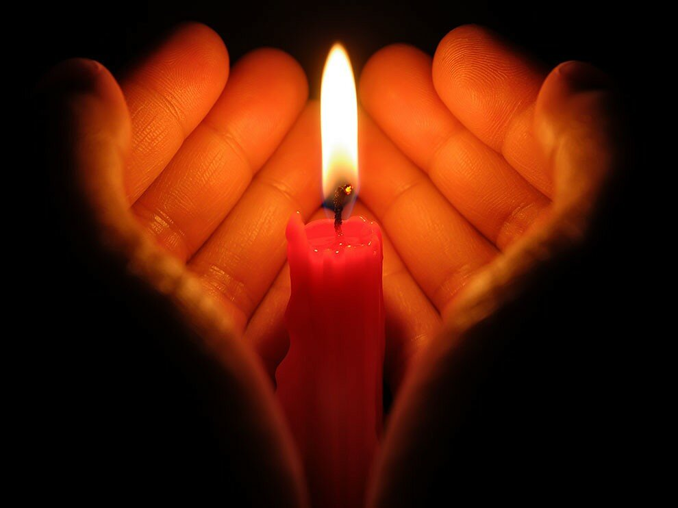 Картинки с поминальной свечой, днем рождения для
