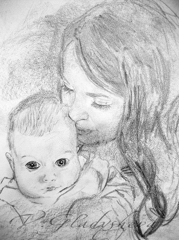 Картинка карандашом на день матери