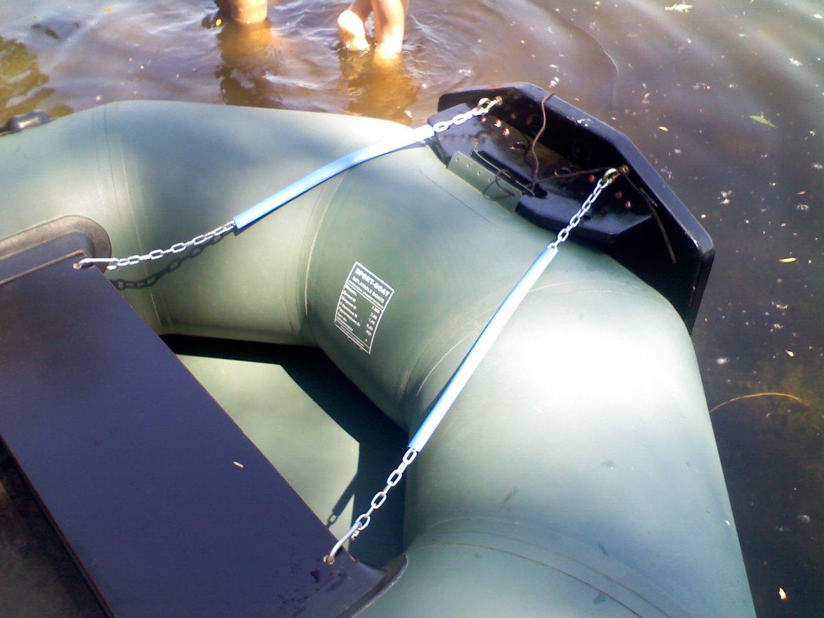 Транец для надувной лодки своими руками