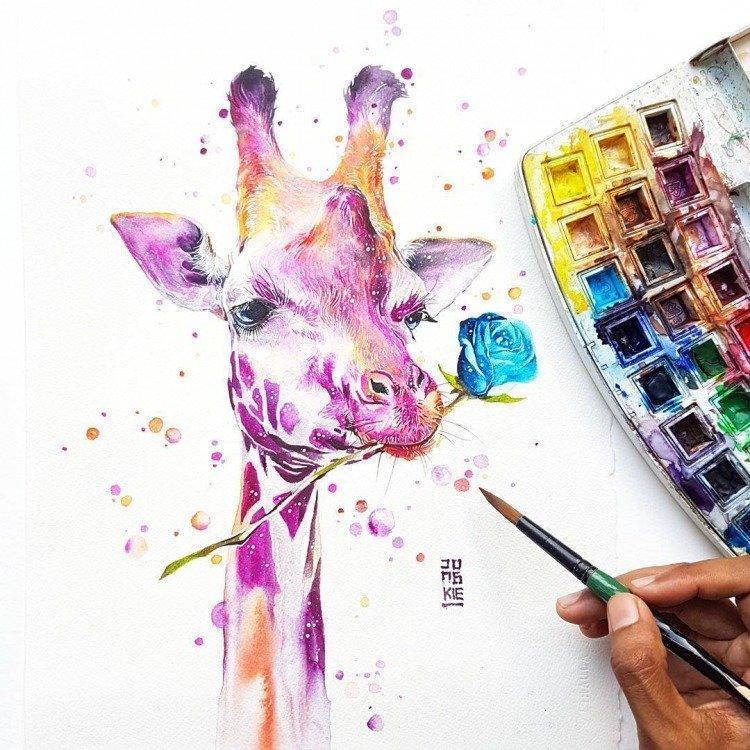вроде прикольные идеи для рисунков красками лазоревый