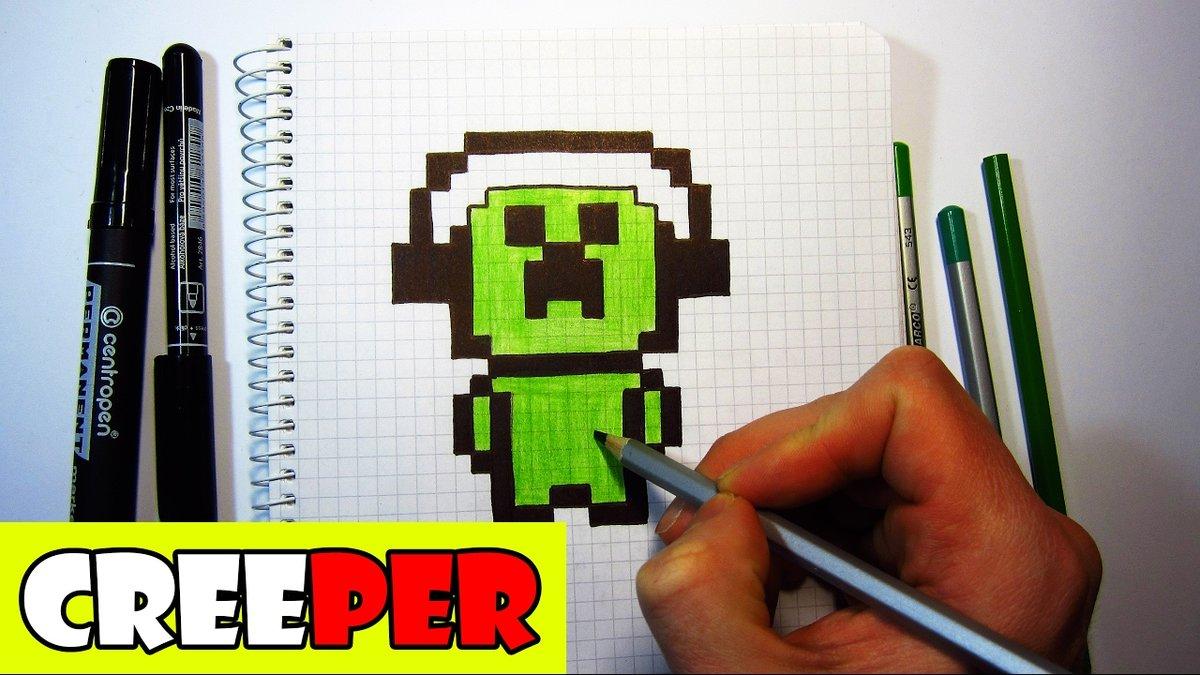 Нарисовать майнкрафт по клеточкам картинки карандашом дома поэтапно изготавливаем