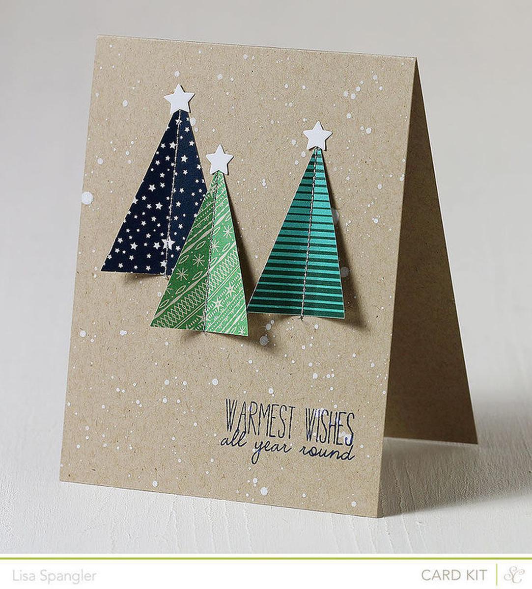 Простые интересные открытки с новым годом