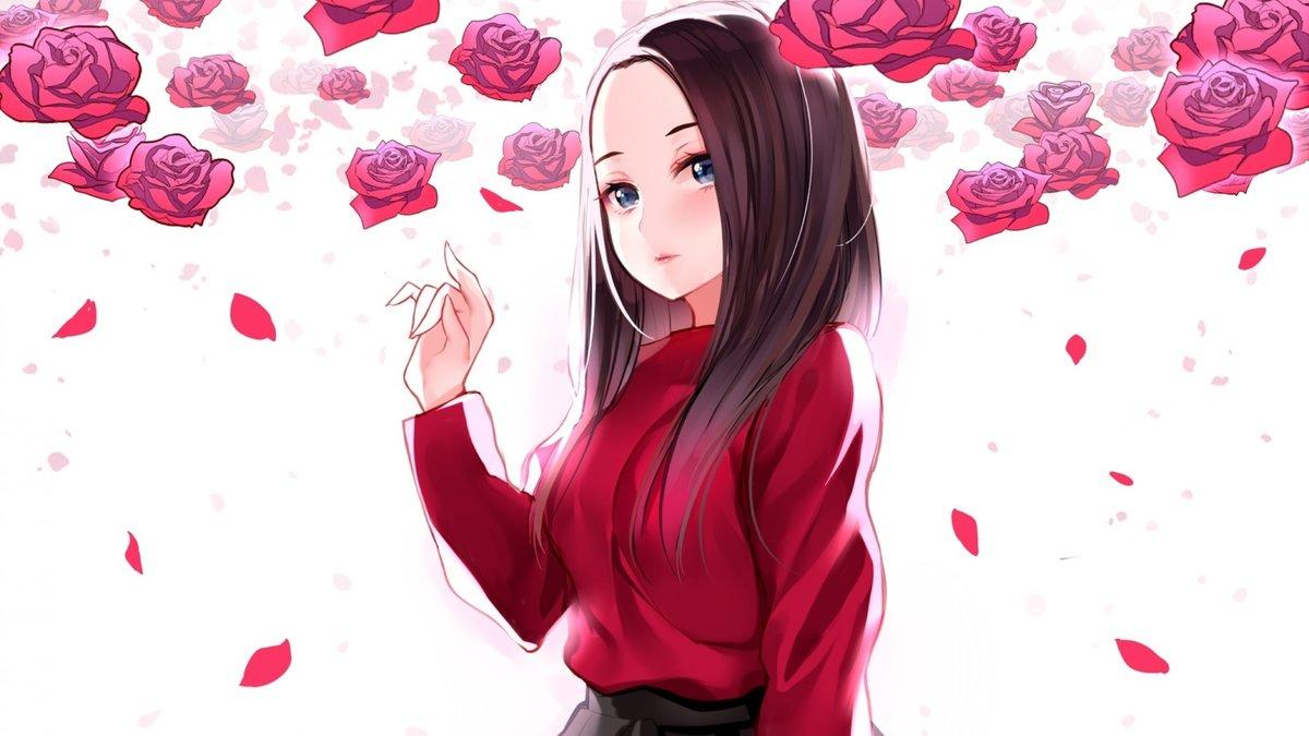 Аниме картинки розы