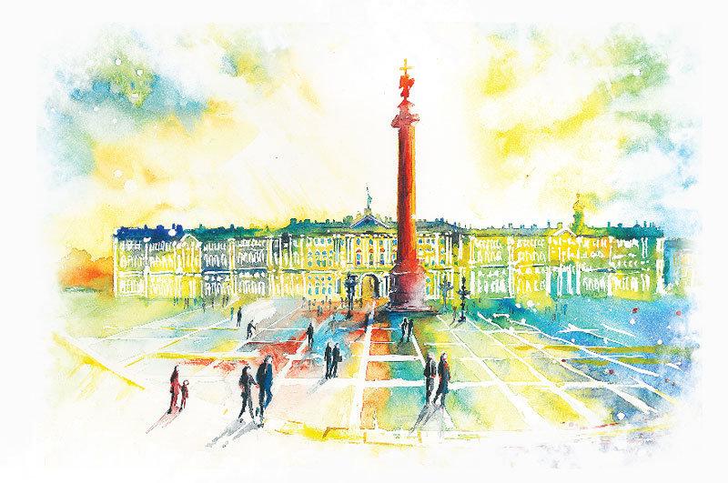 История, открытки с видами города петербург