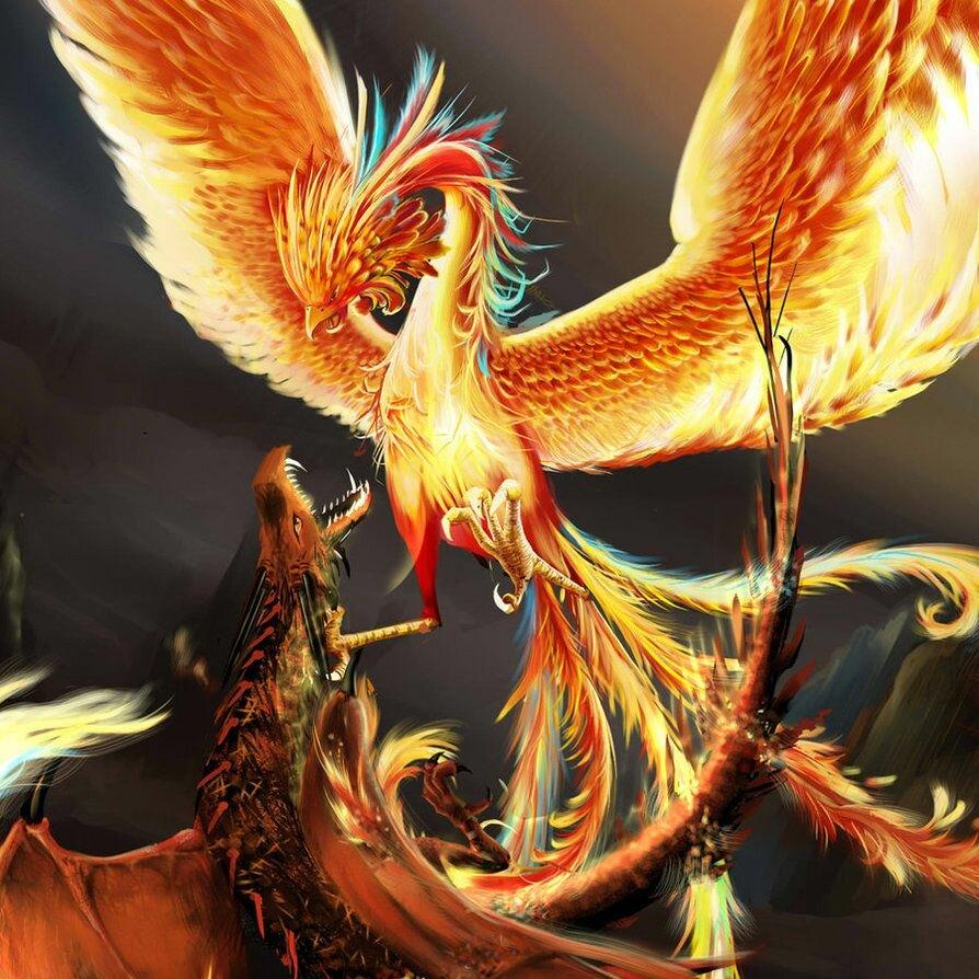 Картинка с птицей феникс
