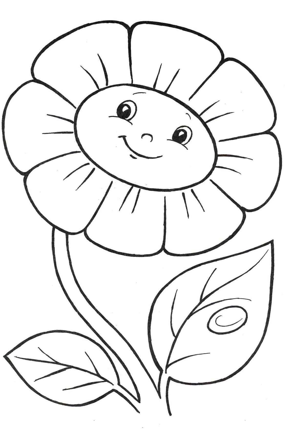 Картинки для детей цветок раскраска, родина самара