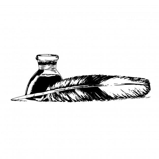 Картинка перо и чернила