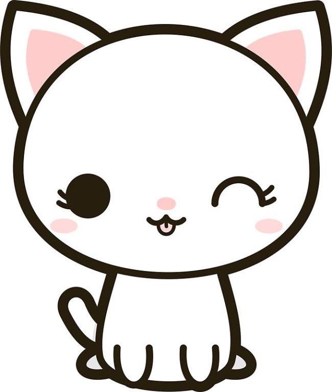 Самые милые картинки котиков для срисовки
