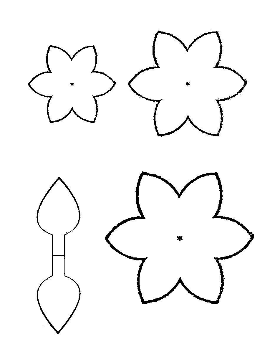 Шаблоны цветы для вырезания из бумаги распечатать
