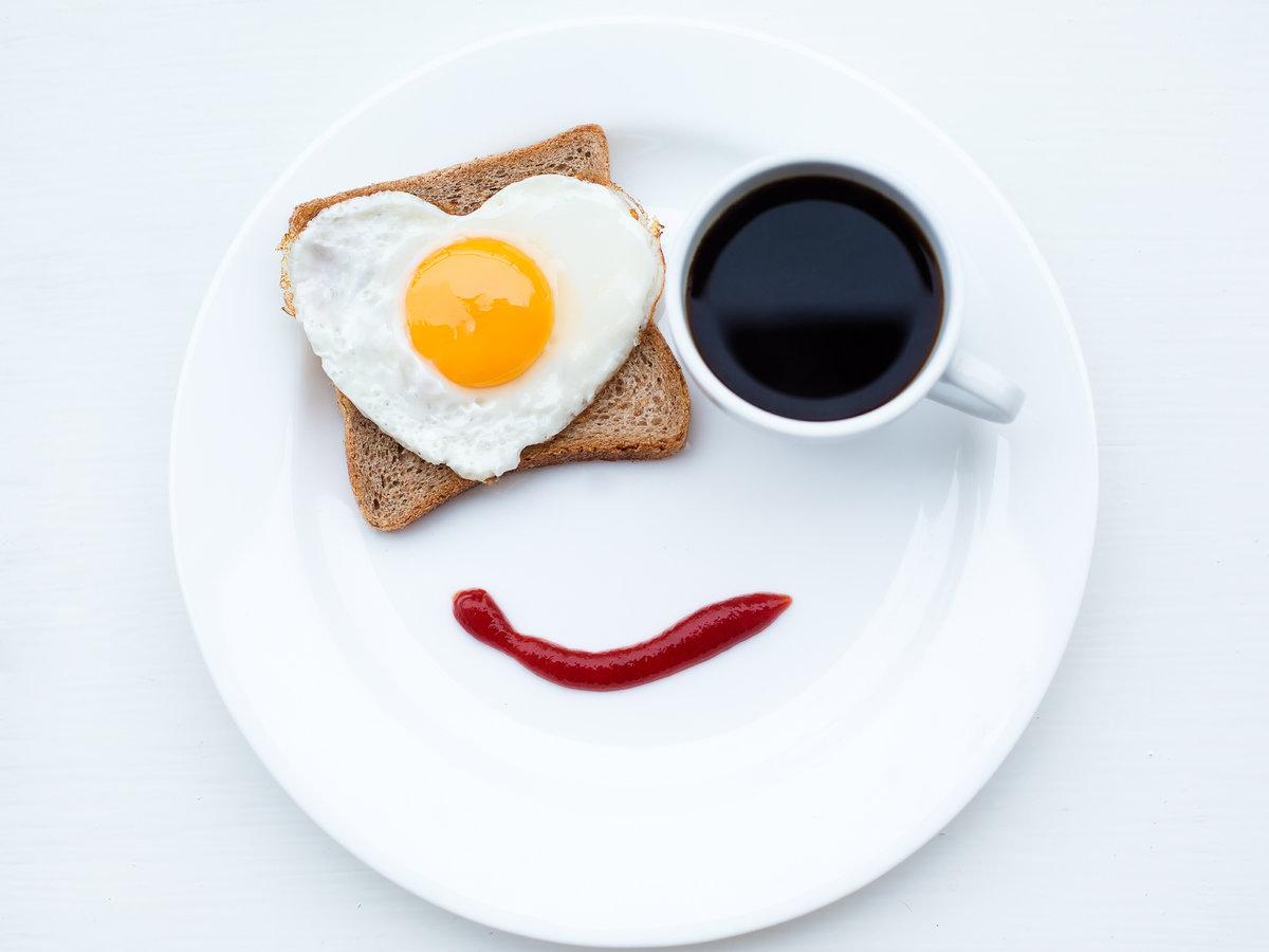 Какашкой, утренний завтрак открытки