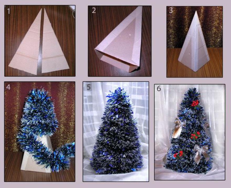 Как сделать елку своими руками фото поэтапно