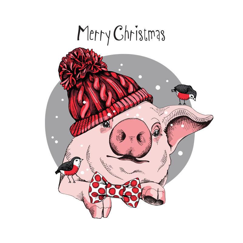 Прикольные рисунки свиньи к новому году