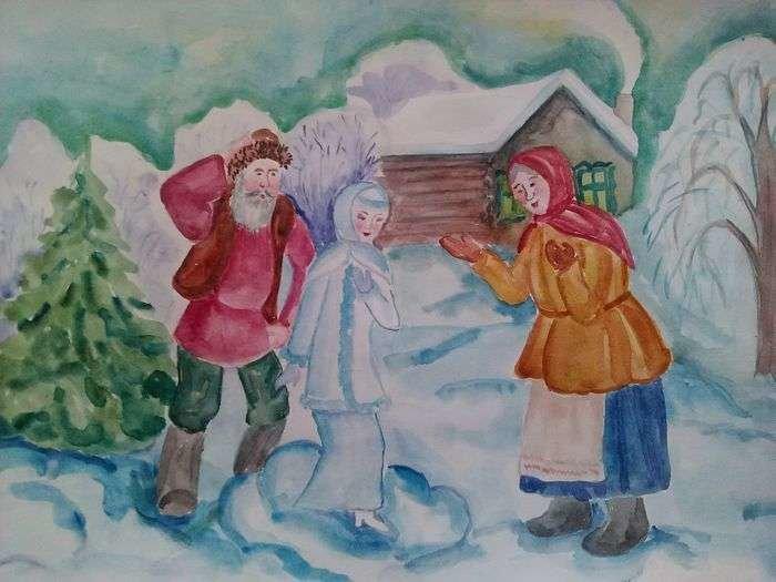 создать картинка к сказке снегурочка нарисовать бисера своими