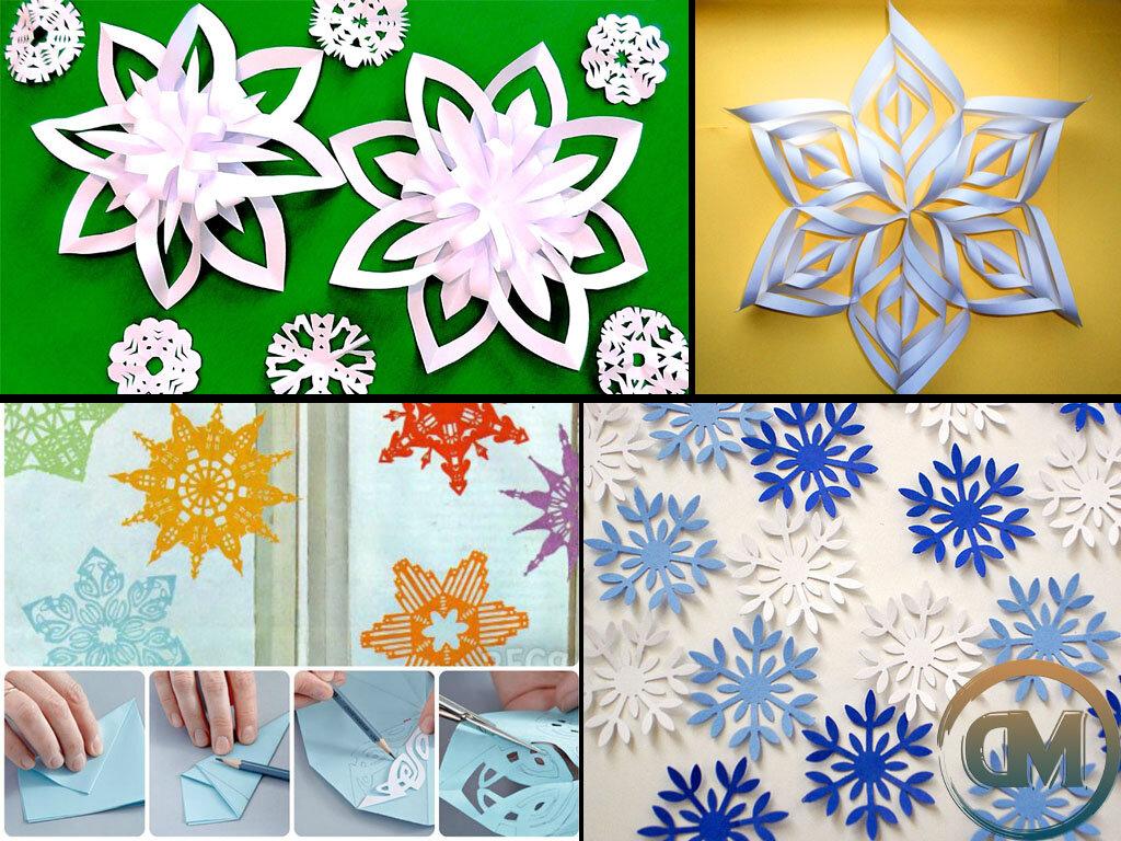 Снежинки картинки своими руками