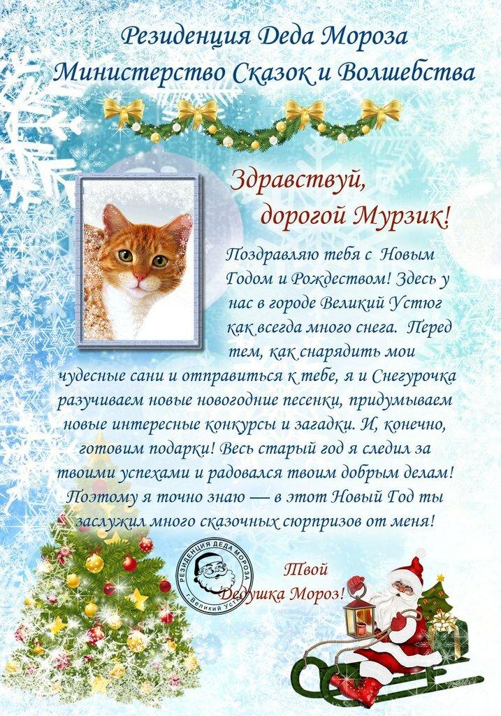 Рулем открытки, открытка ребенку от деда мороза на новый год
