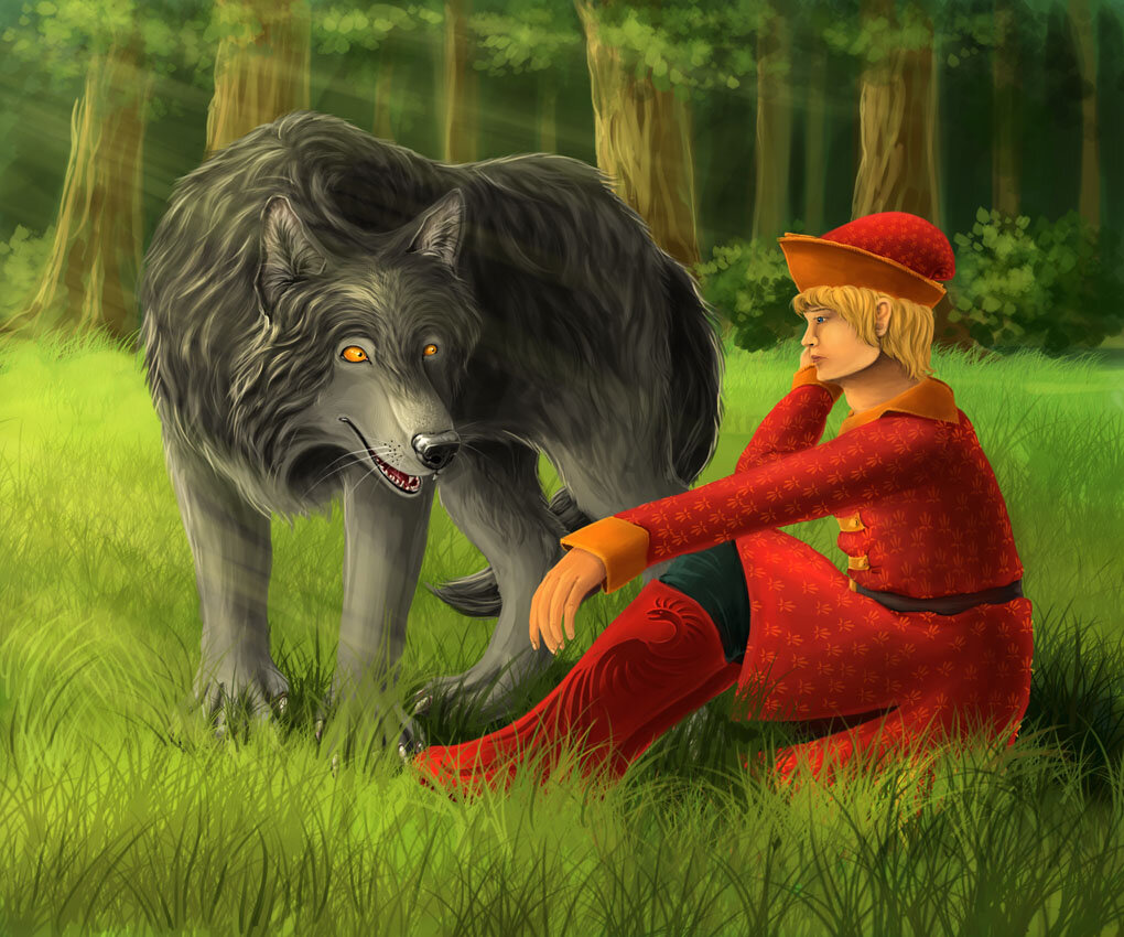 Иван-царевич и серый волк с картинками
