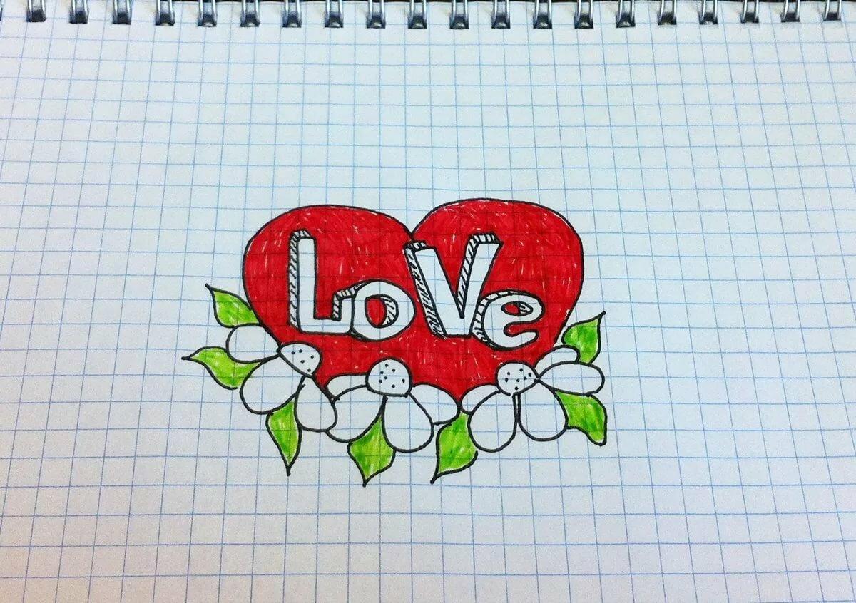 Красивые картинки с сердечками и надписями про любовь карандашом, индийских