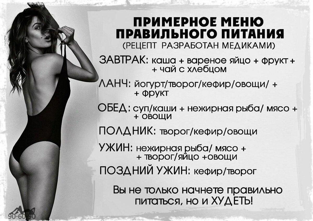 Рацион питание для похудение