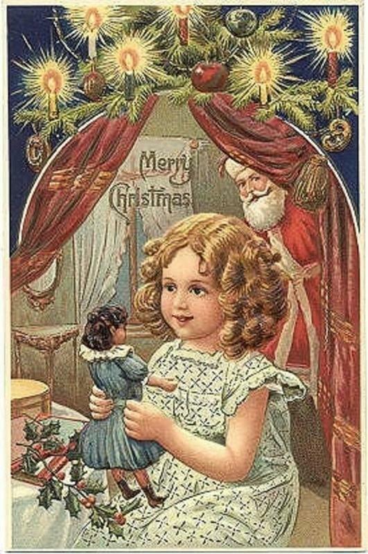 Картинки, первые новогодние открытки англия
