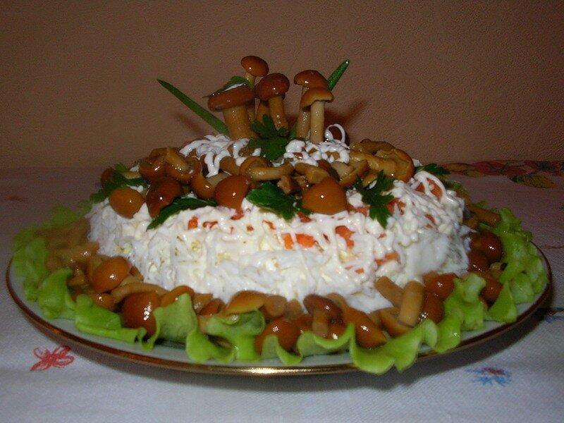 салат грибное лукошко рецепт с фото япе варианты