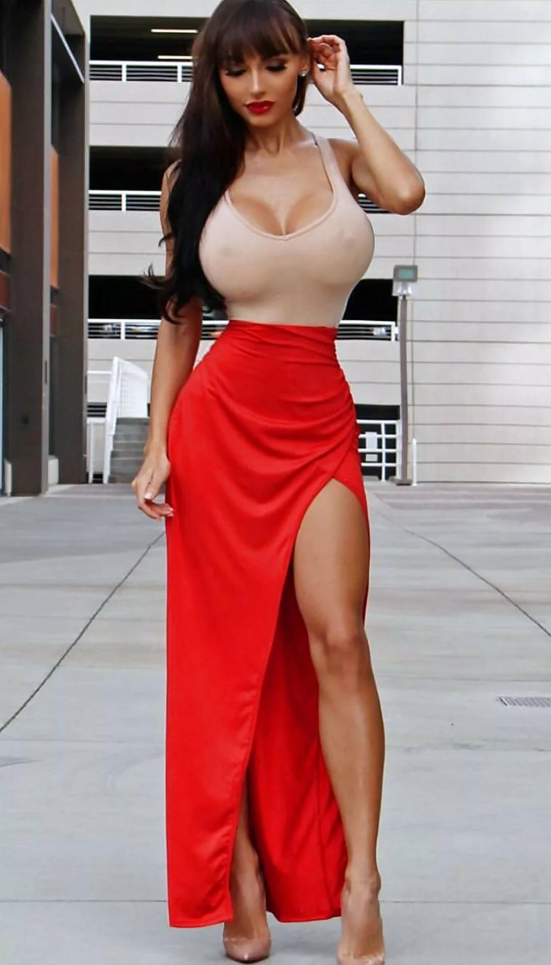 Dress-up girls with boobs