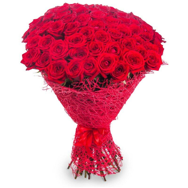 Заказ цветов большой букет розы