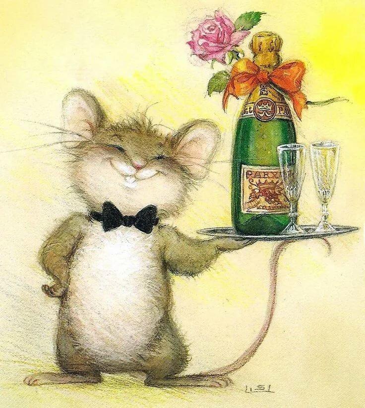 Прикольные открытки с животными на день рождения